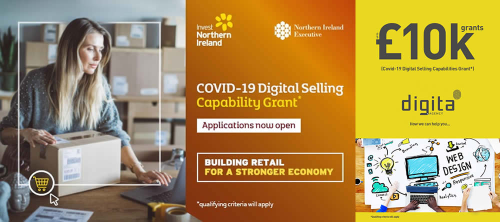 COVID-19 Digital Selling Capability Grant - eCommerce and digital services relating to building on-line sales.